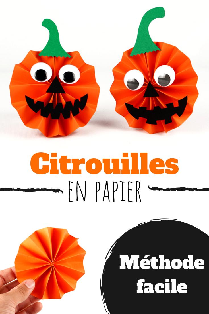 Citrouilles en papier Halloween bricolagehalloweenenfant