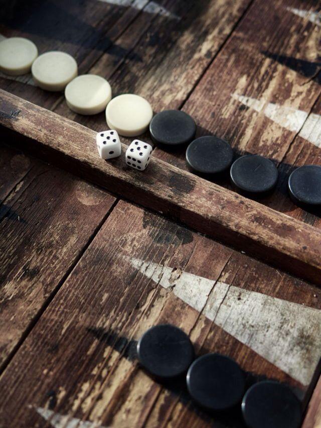 Backgammon Turkish Oriental Game Rustico Juegos Juegos De