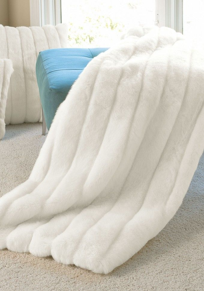 Throw Blankets Adorable Interesting White Faux Fur Throw Blanket With Teal Tufted Ottoman