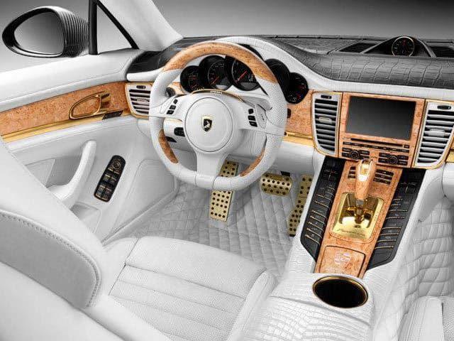 Porsche Stingray Gtr With Gold Crocodile Interior Interior Design