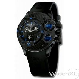De Offshore Limited OFF003A is een stoer 48 millimeter groot heren horloge. Opvallend is de blauwe vering in het horloge.