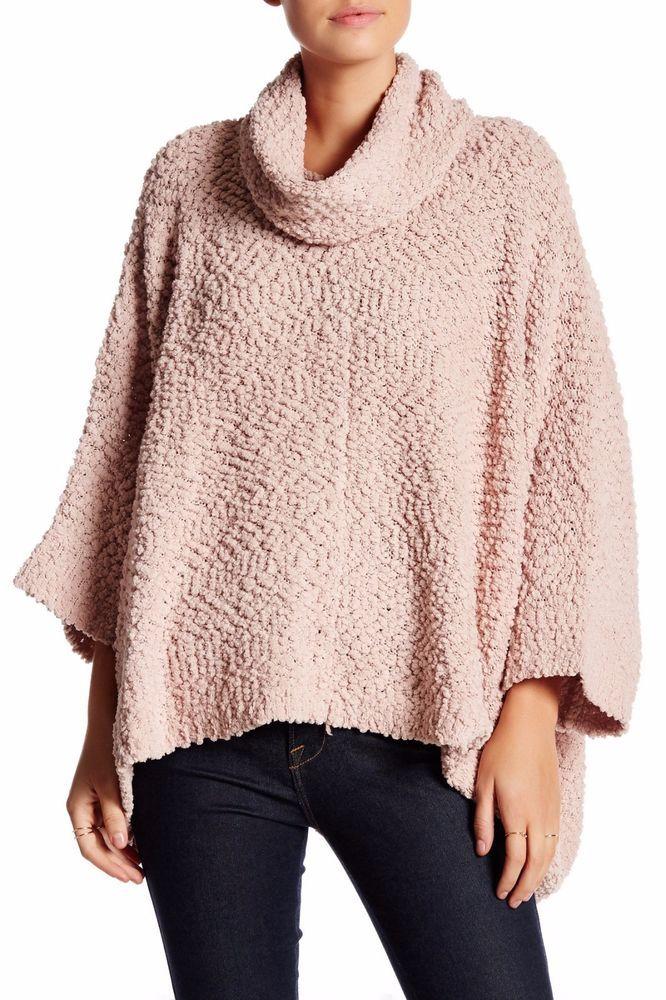 da867fa6d ROMEO & JULIET COUTURE Cowl Neck Sweater Poncho- Rose-NWT Size Large  #RomeoJulietCouture #CowlNeck