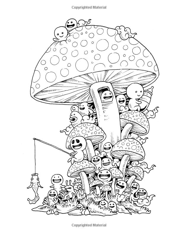 Doodle Invasion Zifflins Coloring Book