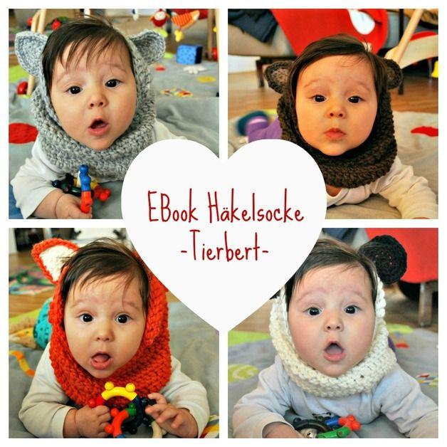 Ebook Häkelsocke Tierbert | Halssocke, Baby kind und Häkelanleitung