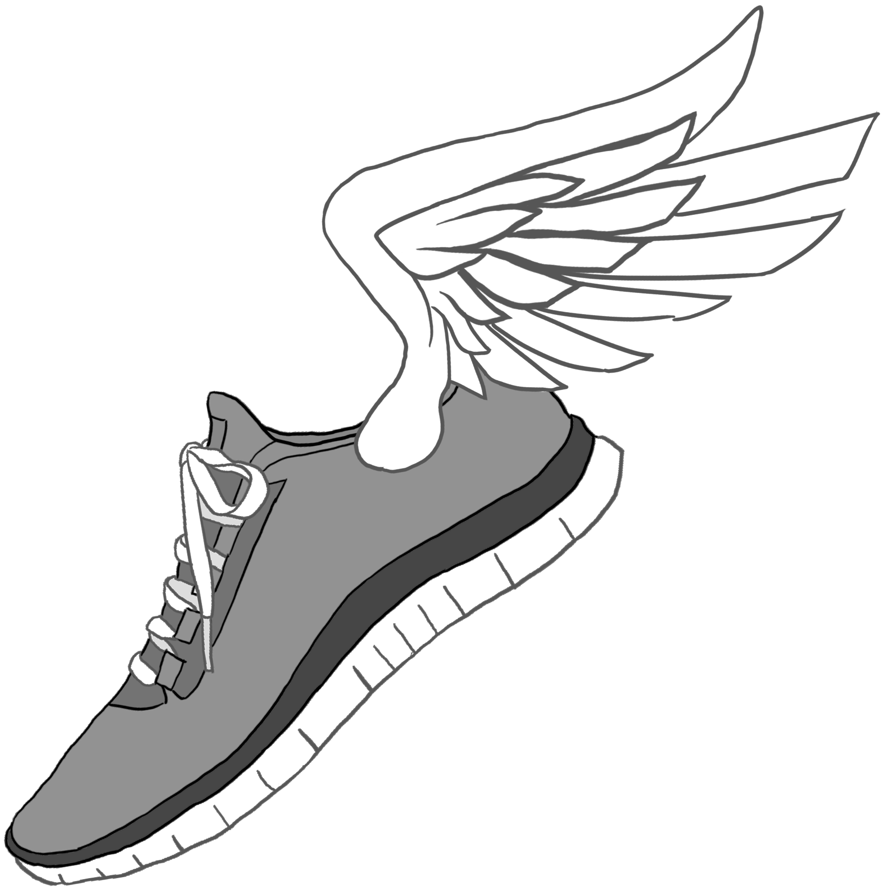running clipart | Running Shoe with wings clip art | 5k | Pinterest | Running  shoes, Clip art and Running