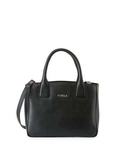 FURLA Camilla Small Leather Tote Bag, Onyx. #furla #bags #shoulder bags