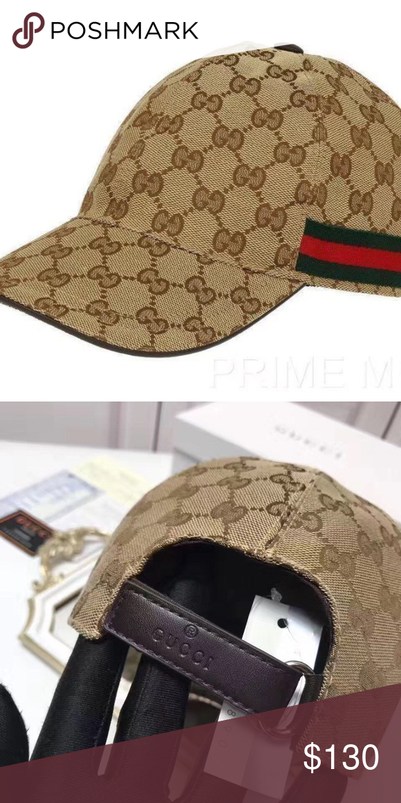 e259b9530e6 GUCCI HAT MEN S WOMEN CANVAS BASEBALL CAP SIZE M NEW GUCCI HAT  STYLE BASEBALL CAP SIZE M MATERIAL CANVAS