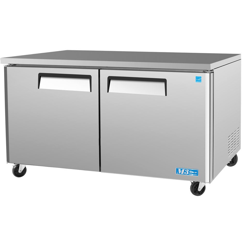 Turbo Air Mur 60 M3 Series 60 Undercounter Refrigerator Undercounter Refrigerator Upright Freezer Stainless Steel Cabinets