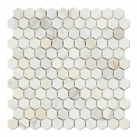 Marble Hexagonal Mosaic Hexagon Mosaic Tile Calacatta Gold Marble