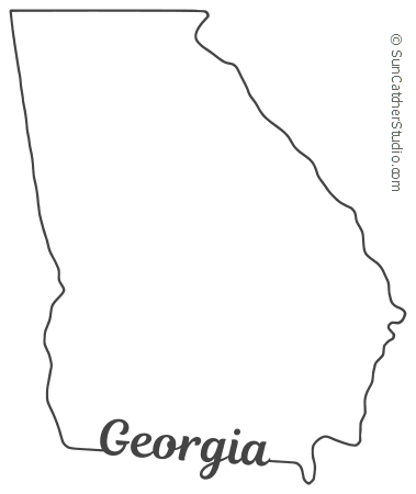 image relating to Printable State Outlines called Ga - Map Determine, Printable Place, Form, Stencil