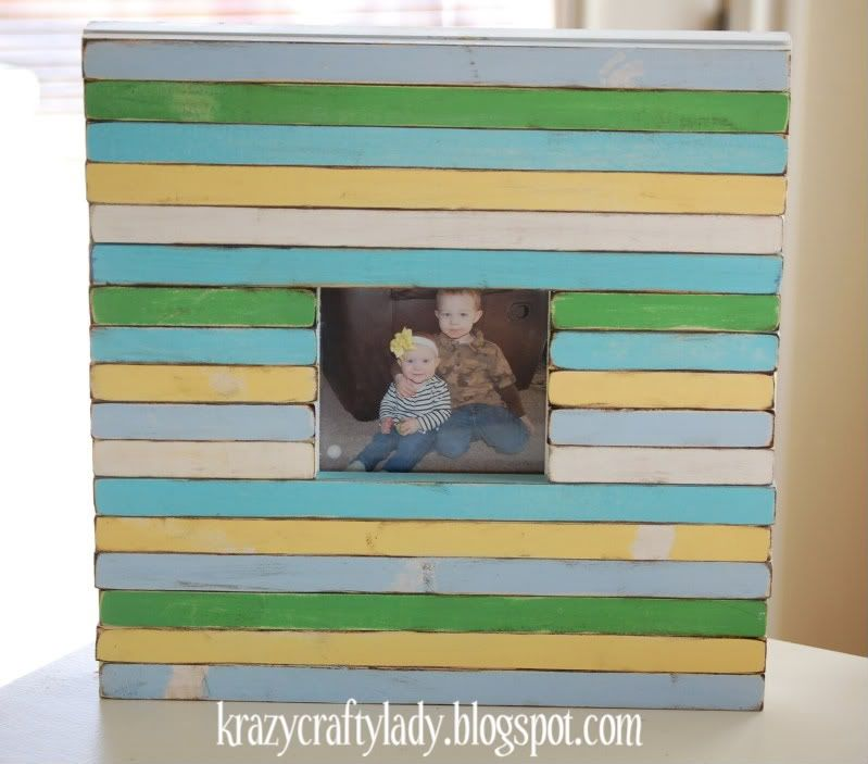 awesome frame idea! I imagine using popsicle sticks for this ...
