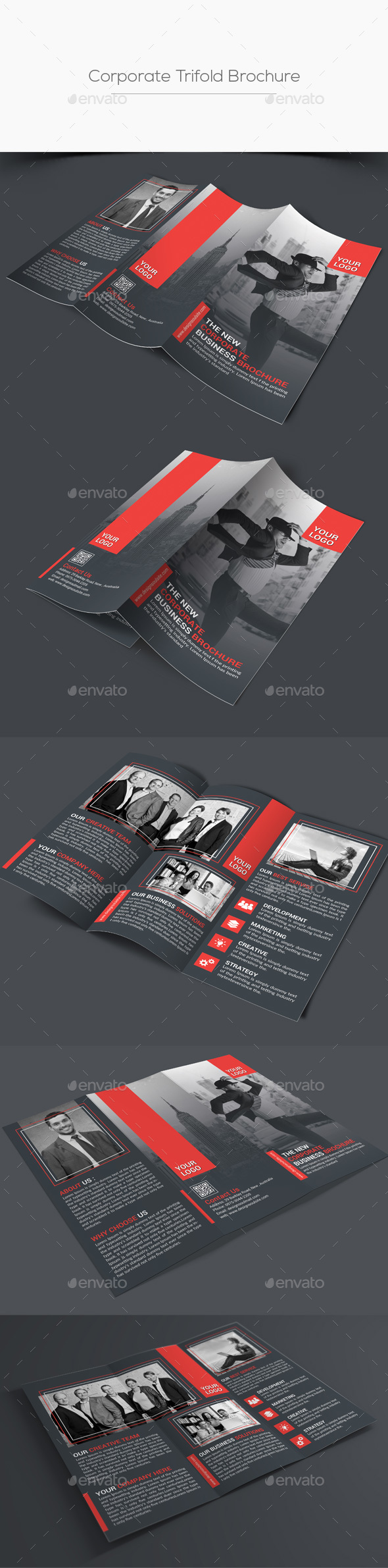 Corporate Trifold Brochure Templates PSD. Download here: http ...