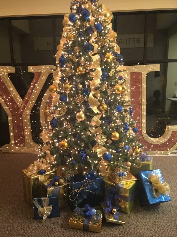 Royal Blue And Rose Gold Christmas Tree Novocom Top