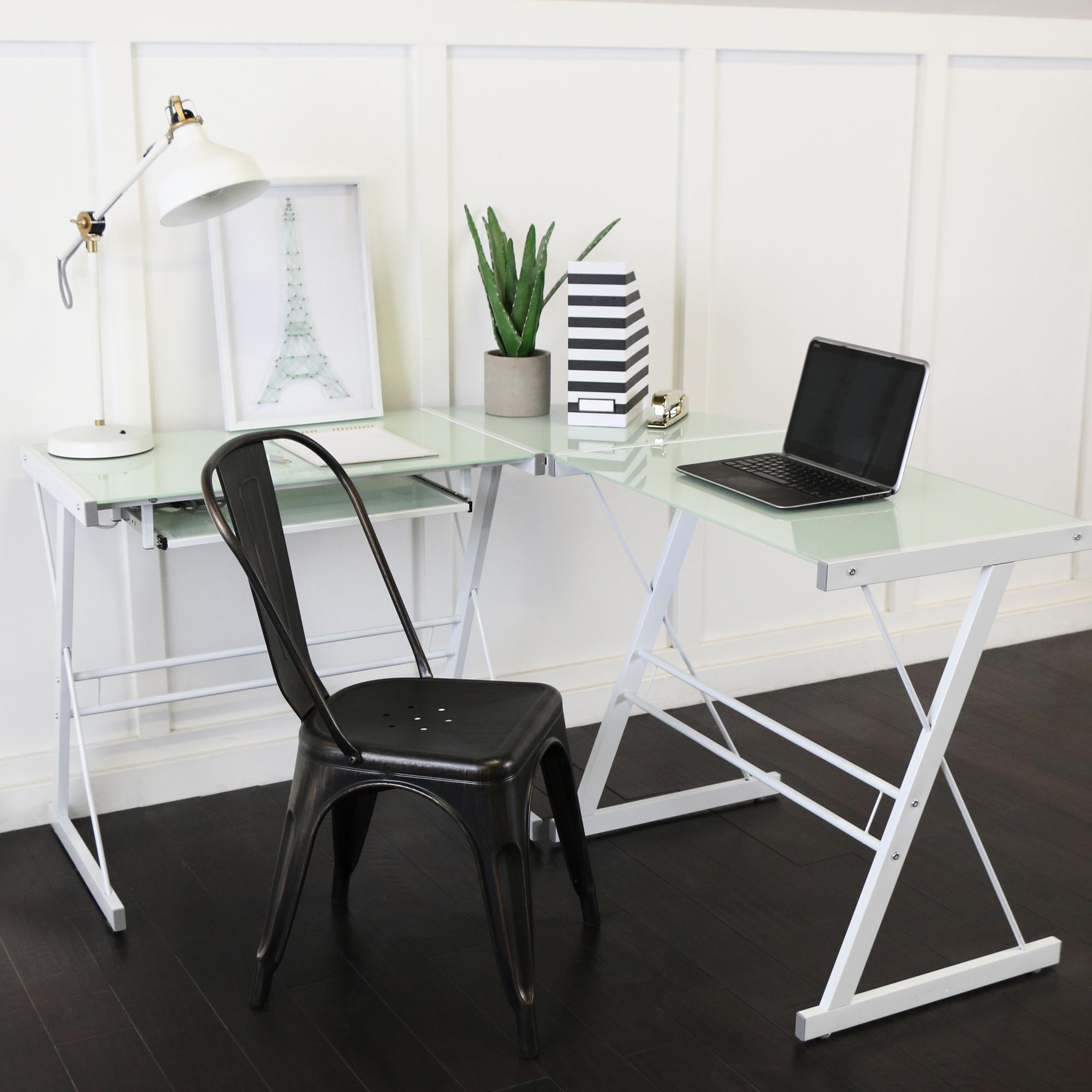 Incroyable Amazon.com: Walker Edison 3 Piece Contemporary Desk, Multi: Kitchen U0026