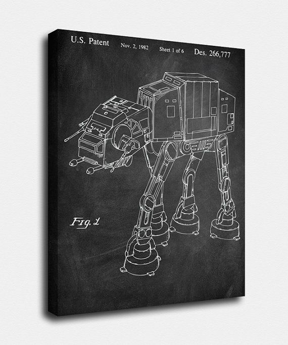 Star wars canvas print imperial walker patent imperial walker star wars canvas print imperial walker patent imperial walker vintage art blueprint print patentprints wall art decor malvernweather Image collections