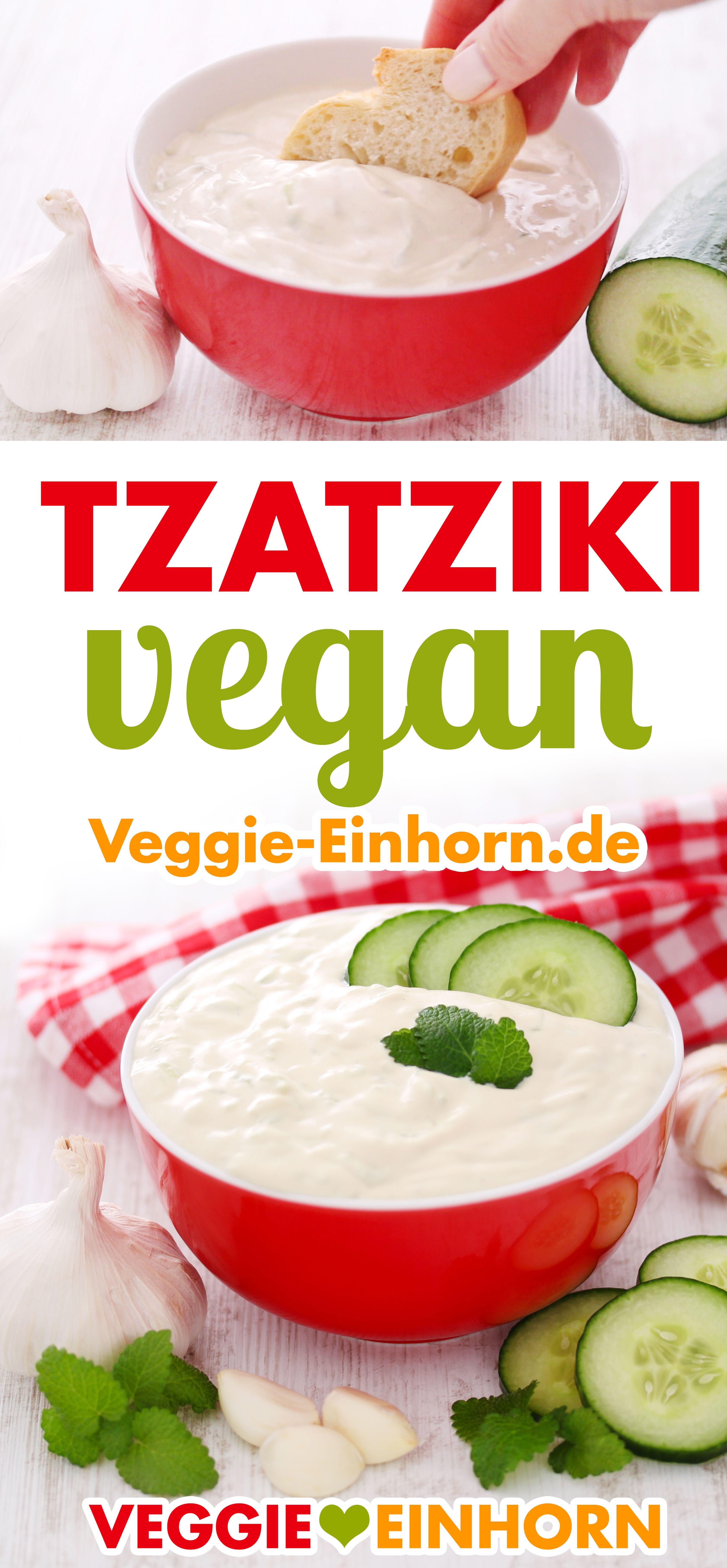 Veganes Tzatziki aus Cashews und Tofu ▶ Dip zum Grillen, für Gemüse oder zu Kartoffeln  #veganerezeptemittag