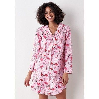 705a9883f2 Printed Cotton Nightshirt – Flamingo Club