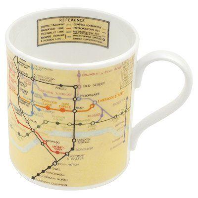 ba London Underground Tube Map Ceramic Mug