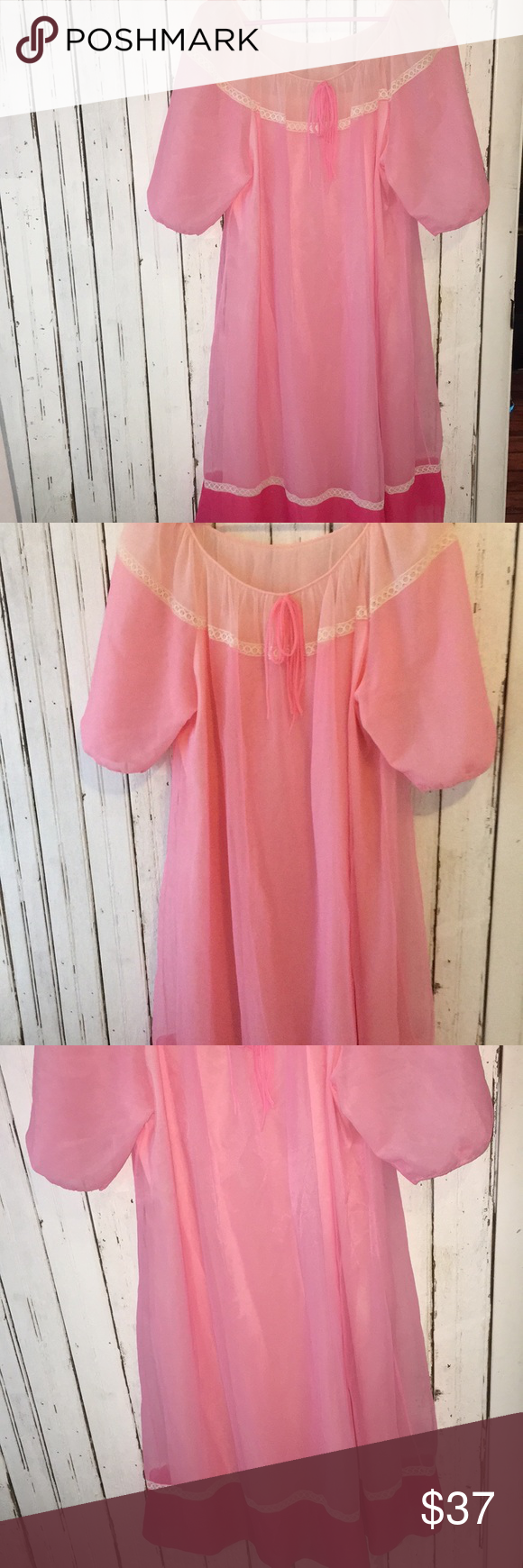 10today Vtg Sleep Gown Schrank Ombre Nightie Vintage Outfits Clothes Design Fashion Design