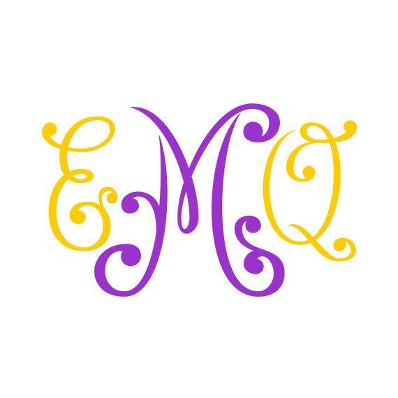 Monogram Font svg , Cricut Fonts, Silhouette Cameo font ...
