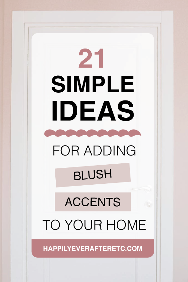 Looking to add a few blush accents to your home? Here are my favorite new inspirational spaces with a little pink color story.  #roommakeover #homedecorinspiration #blush #blushpinkhomedecor #blushpinkroomdecor #colorblush