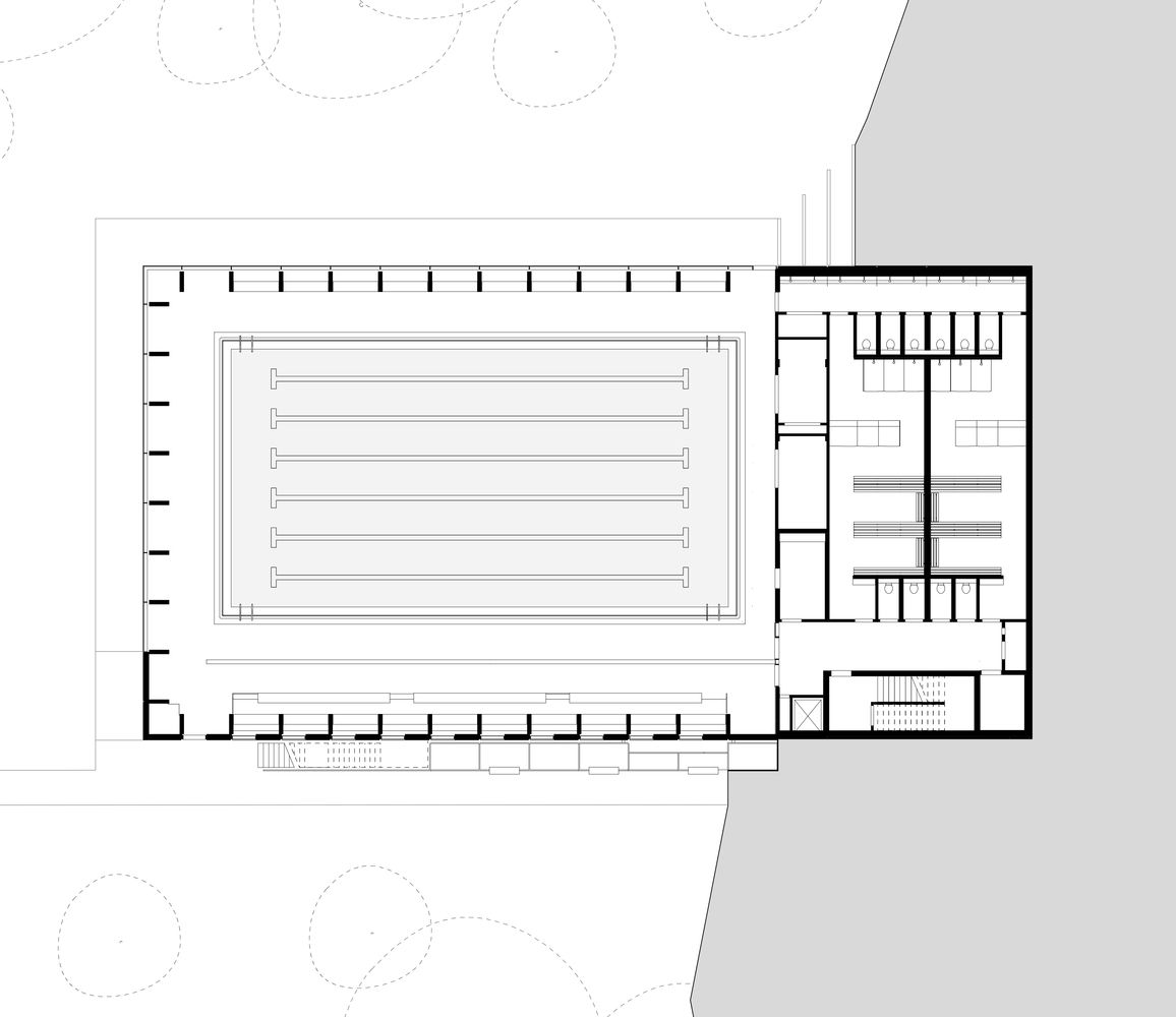 Gallery Of Freemen S School Swimming Pool Hawkins Brown 12 Swimming Pool Architecture Swimming Pool Plan Swimming Pools