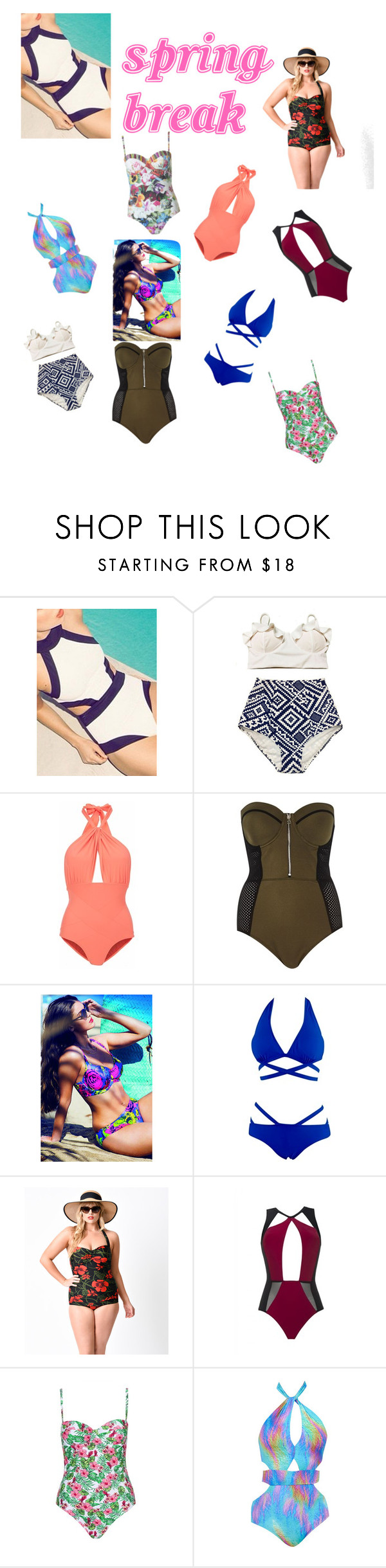 """""""SWIMSUITS - SPRING BREAK READY"""" by slayedbyk on Polyvore featuring Lilliput & Felix, River Island, Esther Williams, MOEVA, Topshop and Ted Baker"""