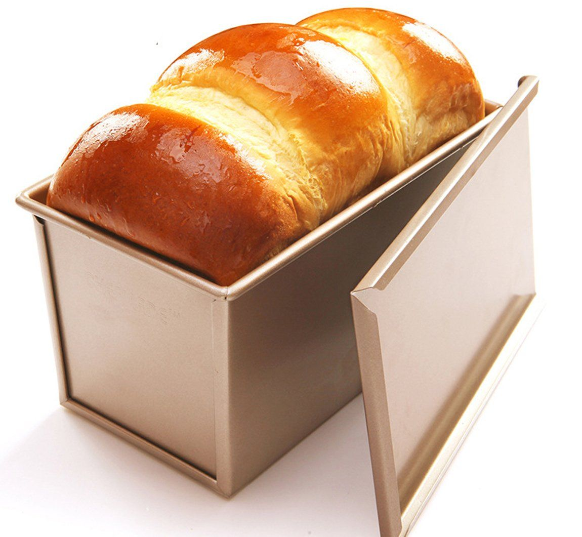 Can Deal Loaf Pan With Cover Bread Baking Mould Cake Toast Non