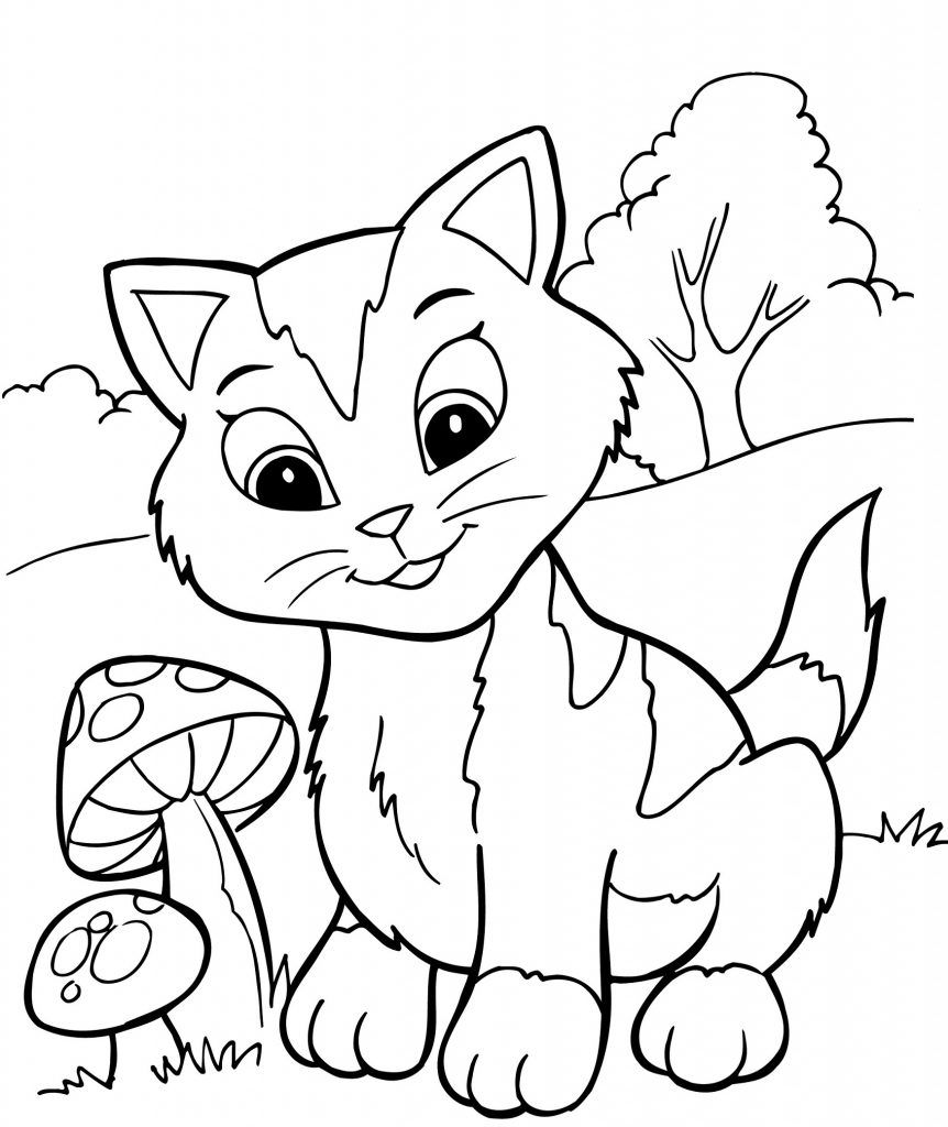 Free Printable Kitten Coloring Pages For Kids (With images