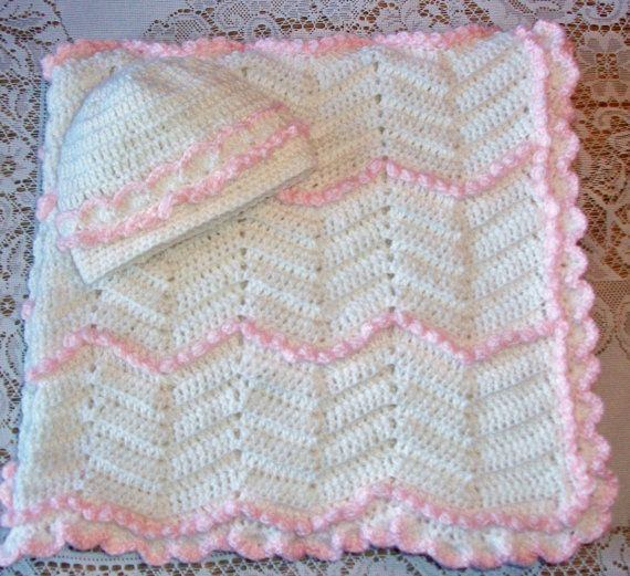Crochet Chevron Zig Zag Blanket With 3d By Madewithlovebysuzieq