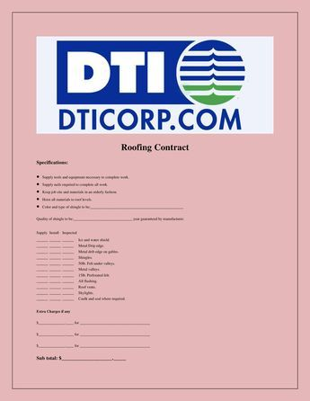 DtiCorp Sample Roofing Contract -   wwwdocdroidnet