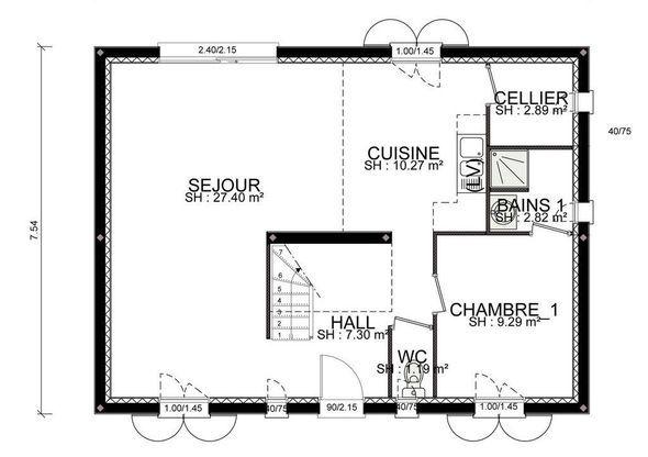 Maison - Marin - RDC - Habitat Concept - 128000 euros - 120,7 m2