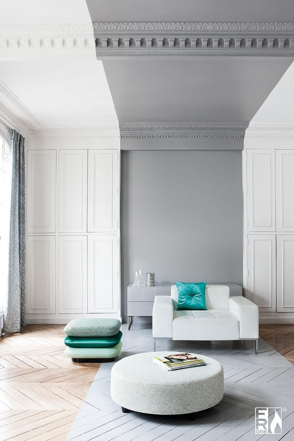 Residential Interior Project Has Modern Yet Vintage Take: Residential Interior Design, White