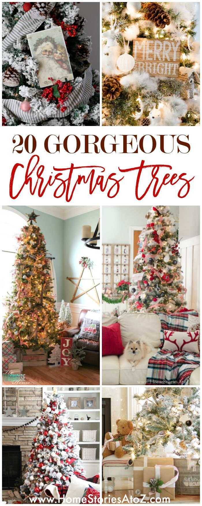 e704b1841998 20 Beautiful Christmas Tree Ideas - Home Stories A…