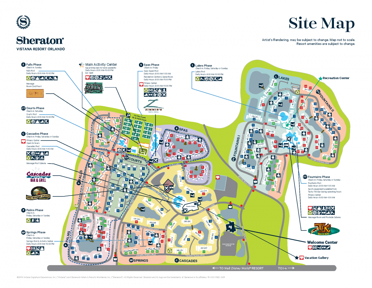 Sheraton Vistana Resort Map Sheraton Vistana Resort Resort Map | Disney! in 2019 | Orlando