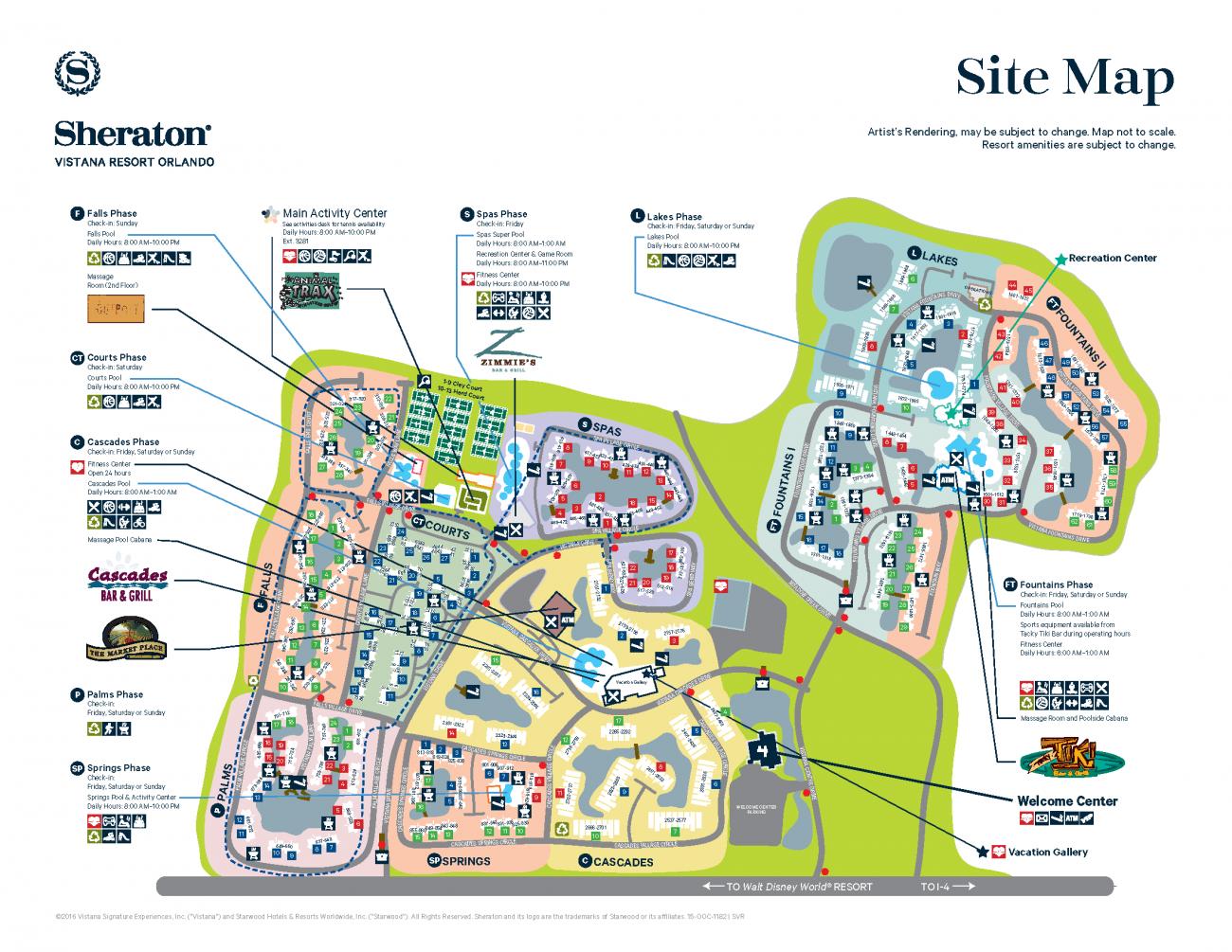 Sheraton Vistana Resort Map Disney Pinterest