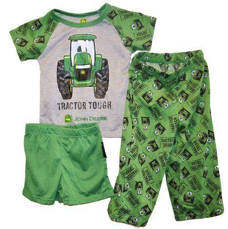 4e977368886d Amazon.com  John Deere Tractor Tough Green Toddler and Boys Pajama ...