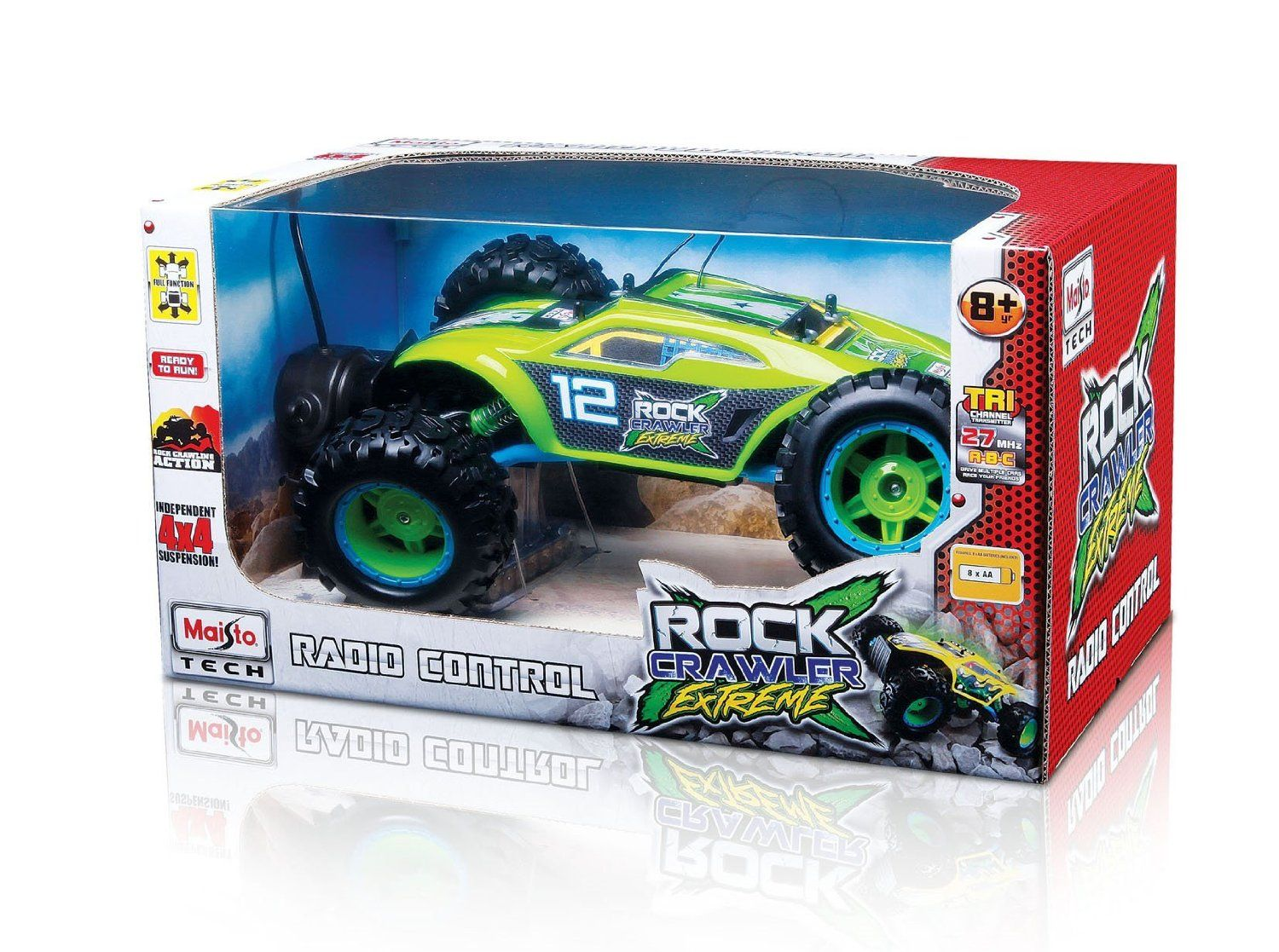4x4 car toys  Maisto Rock Crawler Extreme Remote Controlled Vehicle Colors May