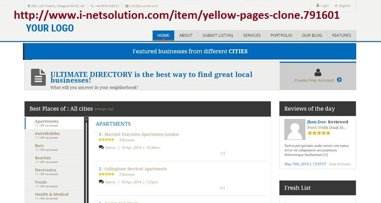 Yellow Page Script Open Source Is The Most Progressive Online Business Directory Software We Provide Best Php Listing S Yellow Pages Business Local Businesses