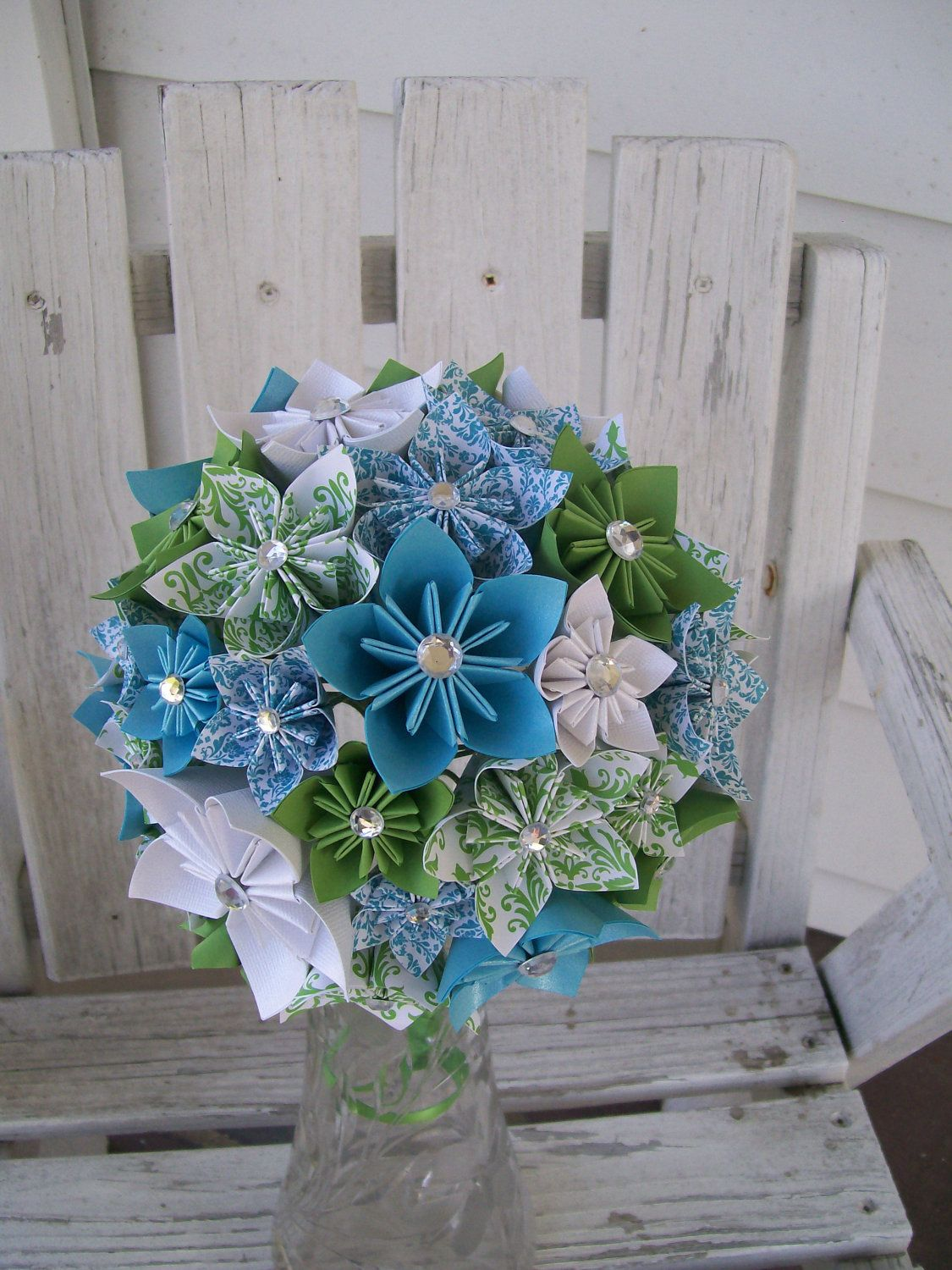 Custom Paper Flower Bridal Bouquet Made to Order