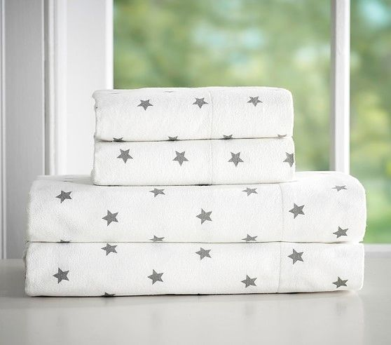 Star Flannel Sheet Set Pottery Barn Kids Bed Gifts