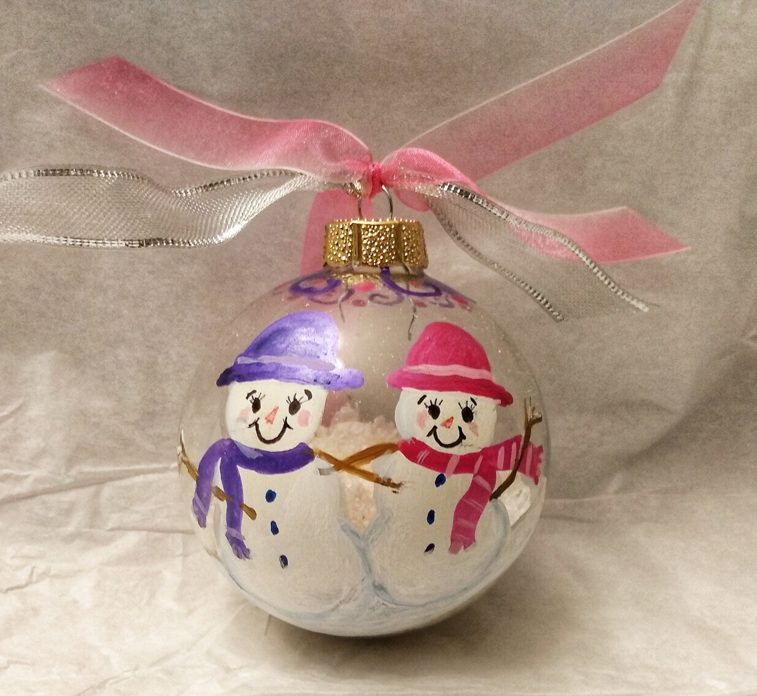 Best Friends Sisters Personalized Hand Painted Ornament By Rachaelsgarden On Etsy Personalized Christmas Ornaments Hand Painted Ornaments Painted Ornaments