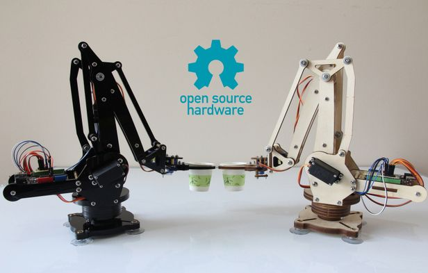 Arduino controlled industrial robotic arm for your desktop