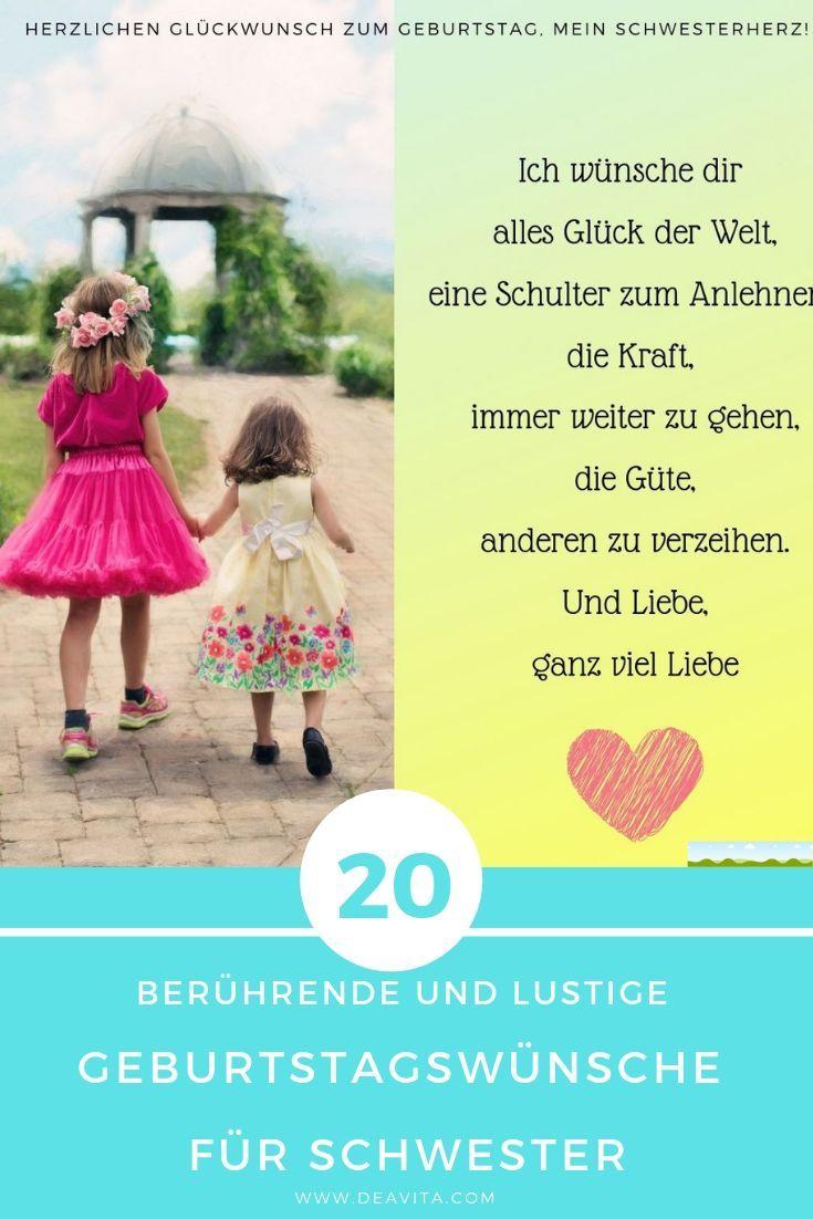 Geburtstagswünsche für Schwester: 20 berührende und ...