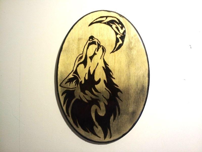 Tribal Wolf Wood Burning - Wall Decor & Tatouage - $15 on Bonanza ...