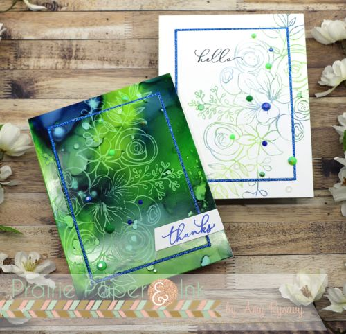 Alcohol Lift Ink with SSS Sketched Flowers Stamp Set #alcoholinkcrafts