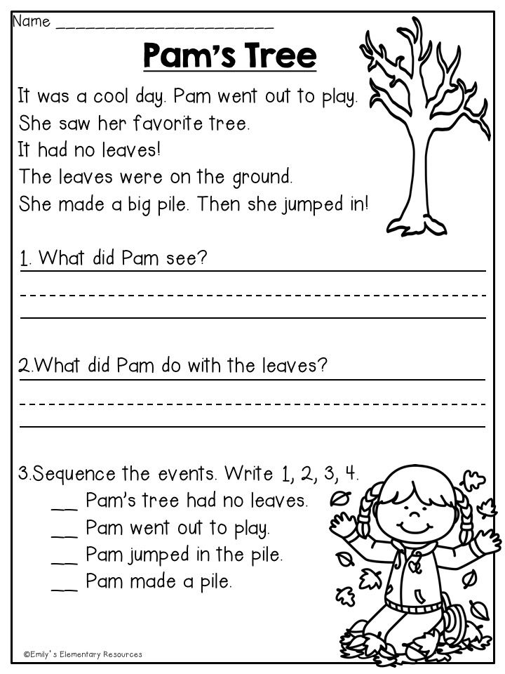 Fabulous Fall First Grade Printables | First grade reading ...