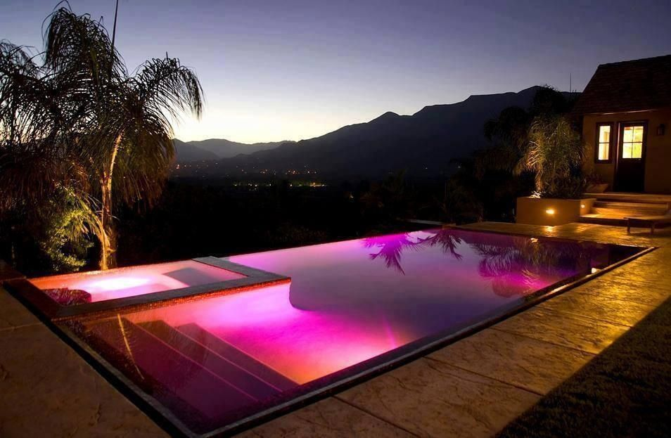 i d have a ball in this led pool lighting amazing on beautiful inground pool ideas why people choose bedrock inground pool id=39172