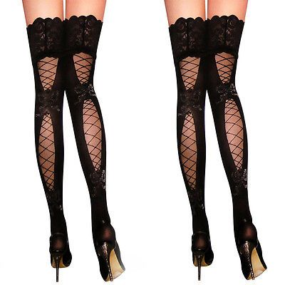 9ab3c8ea0 New Fashion Womens Sexy Womens Lace Top Thigh High Stockings Pantyhose