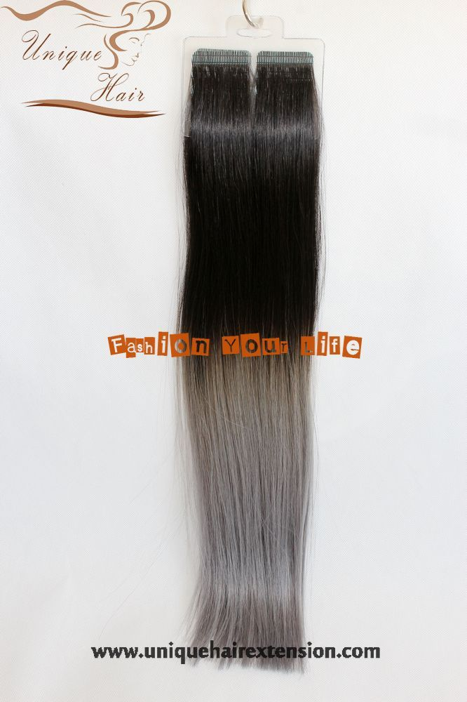 Ombre Tape Hair Extensionstape In Hair Extensionsfashion Silver